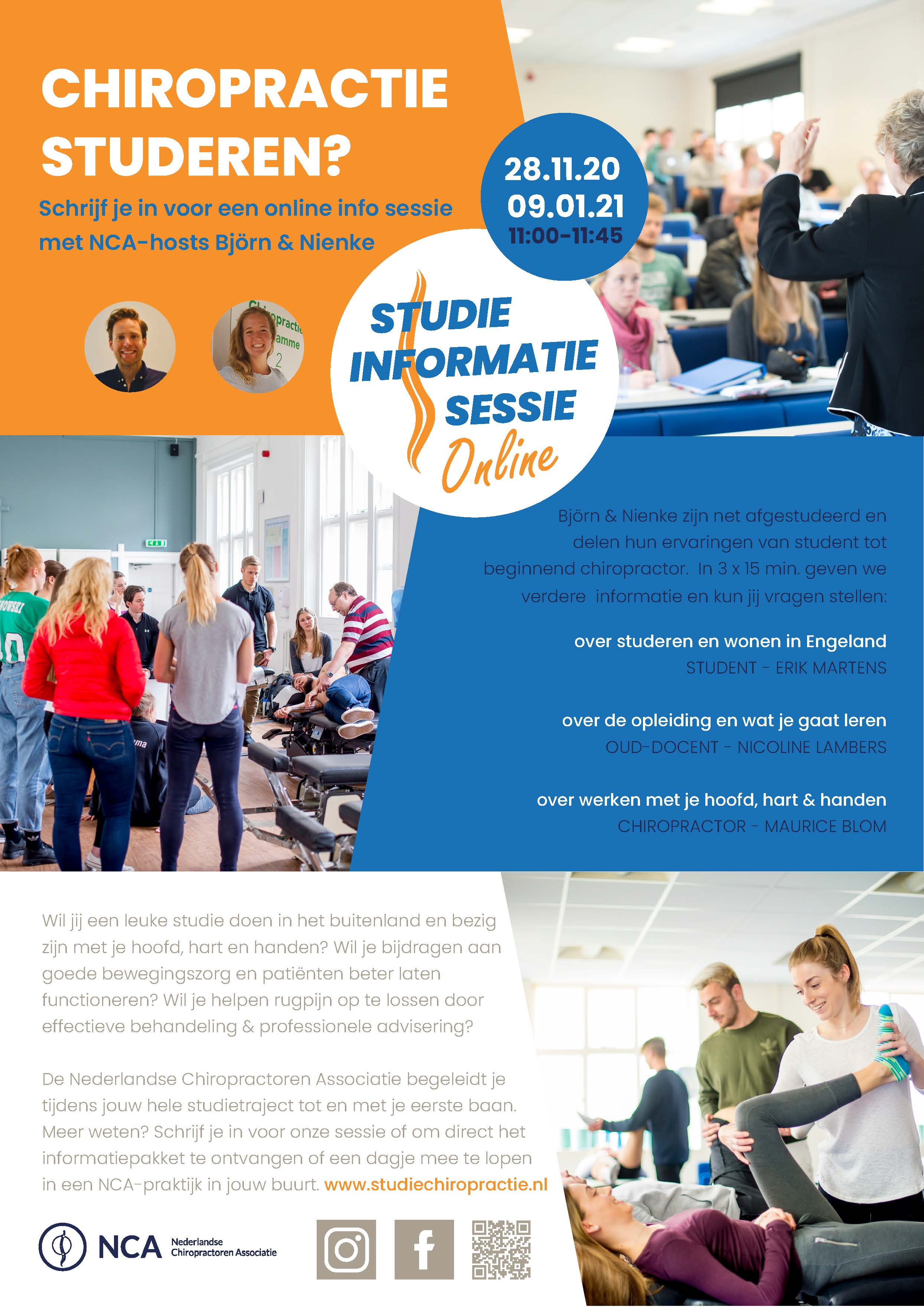 Flyer werving studenten